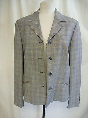 Ladies Jacket CALVIN KLEIN, brown/black tiny check, US 12, EU 48, smart 0096