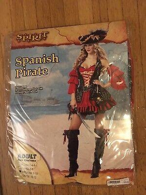 SPIRIT WOMEN HALLOWEEN SPANISH PIRATE COSTUME MEDIUM EUC - Spanish Pirate Costume