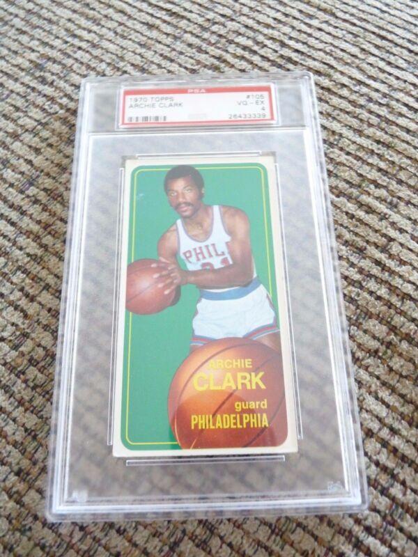 Archie Clark 1970 Topps Tall Boy #105 Basketball Card PSA Graded Slabbed VG-EX 4