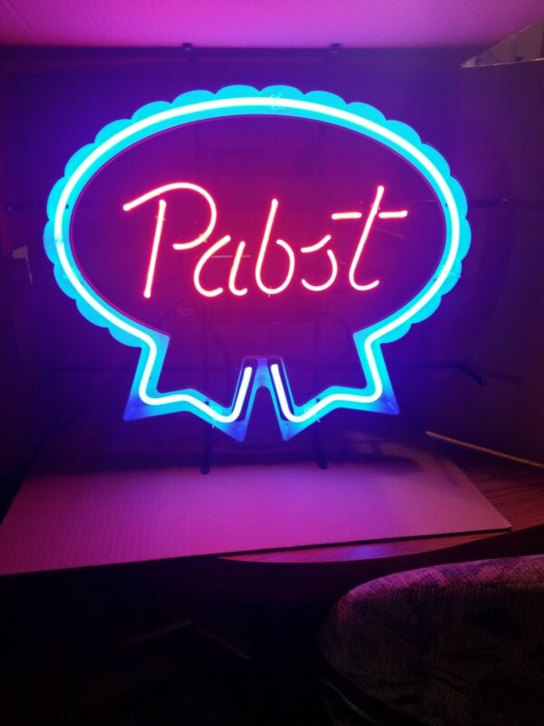 Pabst beer neon light up back bar sign PBR game room man cave new mib