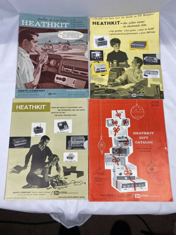 Vintage Heathkit Mail-Order Catalogs Lot Of 4 COLLECTIBLE GIFT