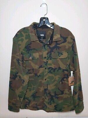 Mens Vans Hillcrest Polar Fleece Buttondown Camouflage #VN0A3HL2CMA Sz Large -