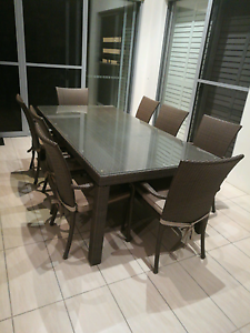 Outdoor Dining Table And 8 Chairs Wakerley Brisbane South East Preview