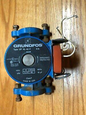 Grundfos Circulation Water Pump Up15-42f 115 Volt .74a 85w 10 Uf 60hz