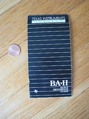 vintage Texas Instruments BA II Executive Business Analyst Calculator GUIDE book