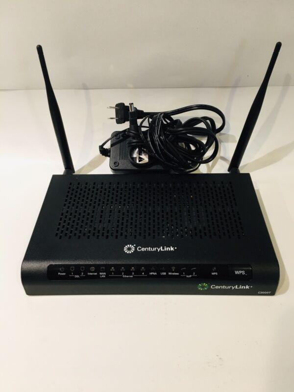Centurylink Technicolor C2000T VDSL Mode Wireless WiFi Router Charger EUC