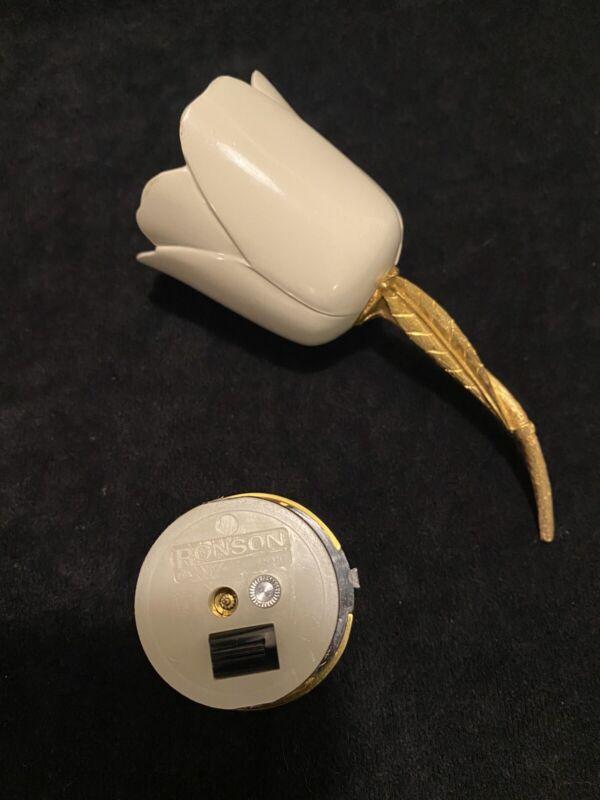Vintage Ceramic Tulip Ronson Table Lighter (ESTATE)