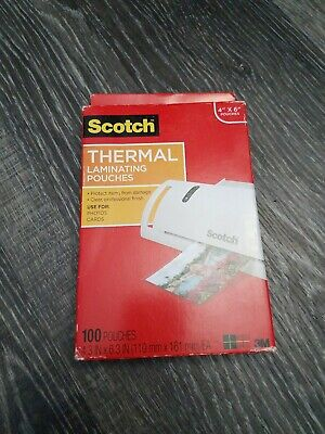 Scotch 3m Thermal Laminating Pouches 4 X 6 100 Tp5900 Brand New In Box