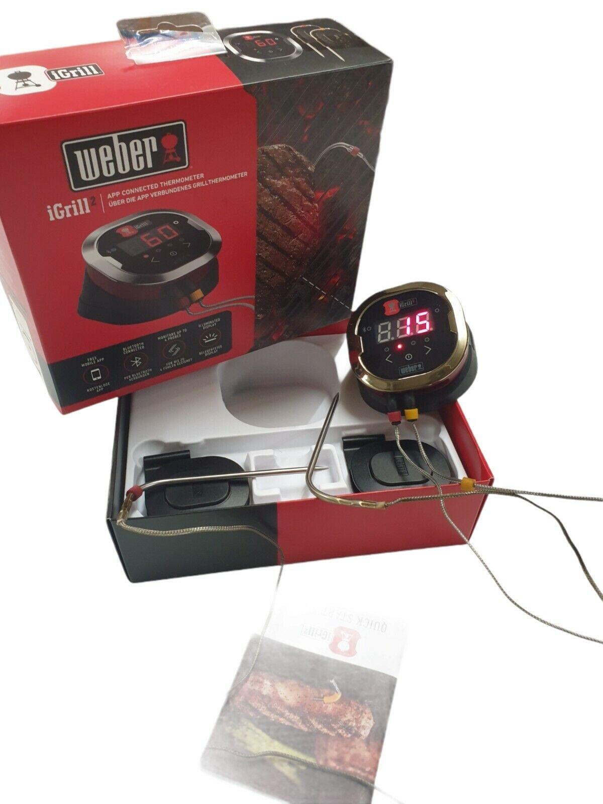 Weber 7221 iGrill 2 Bluetooth Grill-Thermometer, kostenlosen Weber iGrill-App