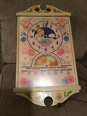 Vintage 1976 Advertising Burpee Seeds Centennial Planting Calendar Clock. Parts