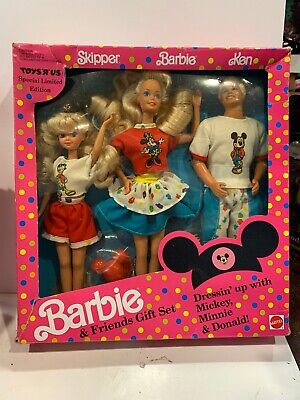 1991 Toys R Us Barbie & Friends Disney Gift Set New Sealed Mattel Dolls