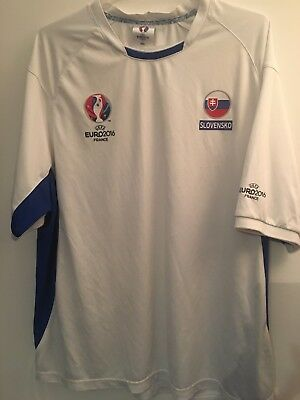 GENUINE SLOVENIA FOOTBALL SOCCER EURO 2016 FANS SHIRT ADULT XXL  image