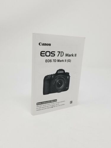 Canon EOS 7D Mark II Instruction Owners Manual Book NEW