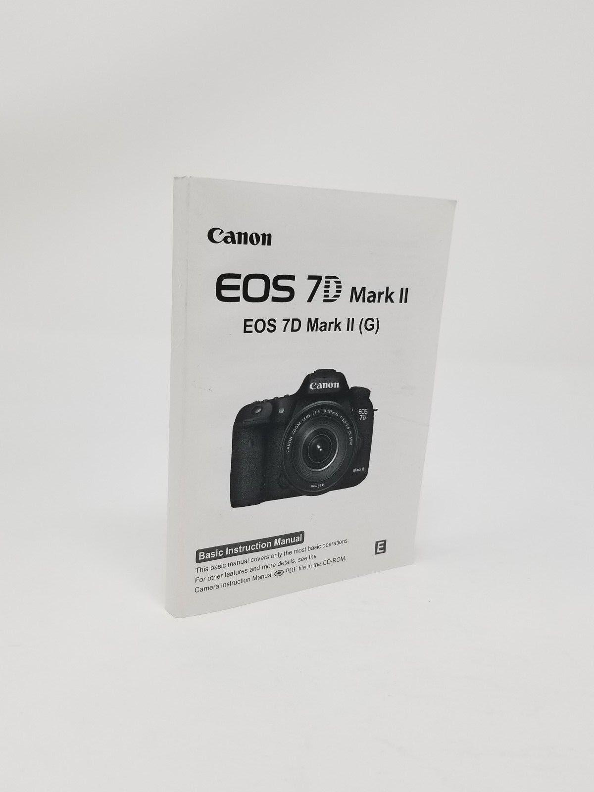 canon eos 7d mark ii genuine instruction owners manual book original rh bayshop com canon eos 7d service manual pdf canon eos 7d user manual