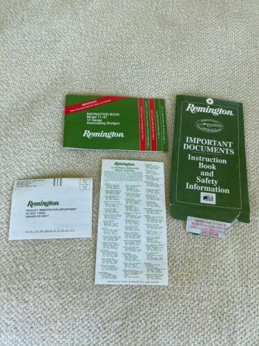 Remington 11-87 Instruction Book