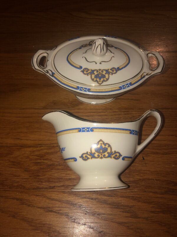 Vintage J & G Meakin England SOL 391413 Cream & Sugar Set