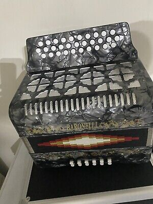 Baronelli Accordion Gray 3112 en SOL acordeon GCF new NUEVO Gris