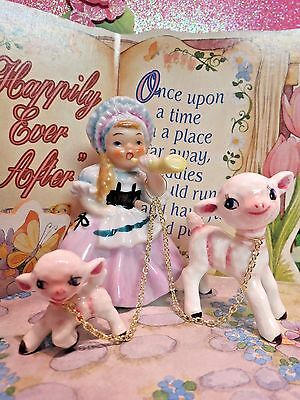 Vtg ARDALT Little Bo Peep Nursery Rhyme Story Book Girl With Two Lambs Sheep