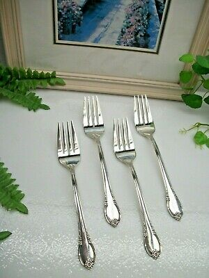 Lot of 4   International Silver 1847 Rogers Bros REMEMBRANCE Dinner Forks  1948