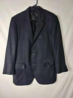 Oxxford Clothes Mens Blazer Size 40R Black Two Button Vented Silk Wool Blend for sale  Oklahoma City