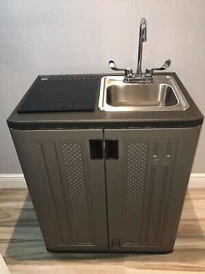 Portable Sink Mobile Rv Kitchen Cold Water Self Contained.