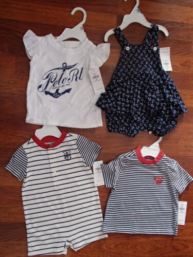 Polo/Ralph Lauren - 3 to 9 Months Nautical Outfits & Shirts - Boys & Girls
