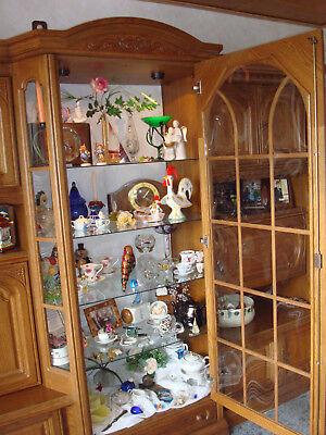 Bar-fach (Eiche Schrank Landhaus Möbel Wohnzimmer Schrankwand Butzenglas Vitrine Barfach)
