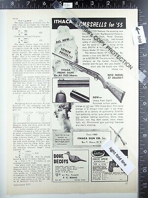 1955 Ithaca Gun Co. NY shotgun model 37 Deluxe vintage magazine advertisement ad