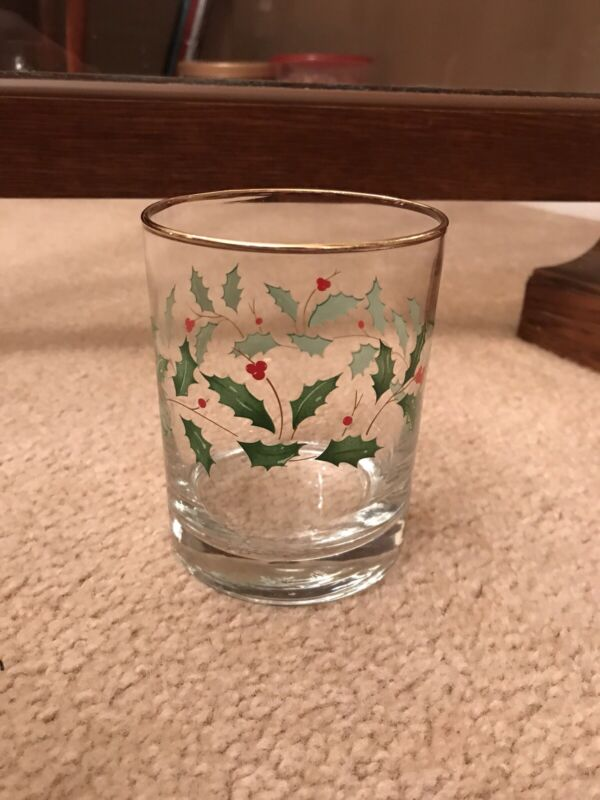 Lenox Holiday Double Old Fashion Glass