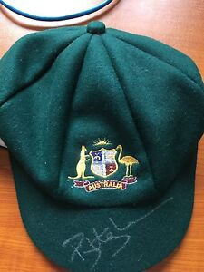 Signed Phil Hughes replica baggy green Mount Hutton Lake Macquarie Area Preview