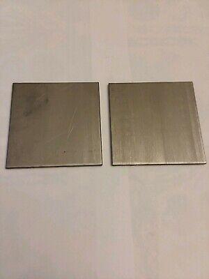 2 Pcs 14 304 Stainless Steel Flat Stock66 Mill Finish - .115