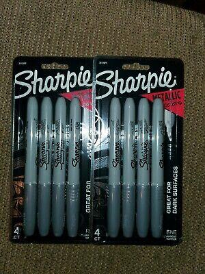 Sharpie Silver Metallic Permanent Marker Fine Point Pack Of 8