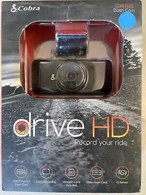 New ~ Cobra CDR 825 Drive HD Dash Cam ~ Record Your Ride