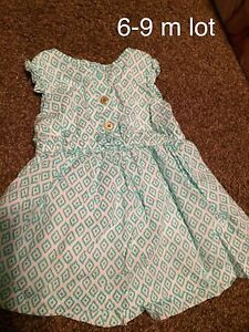 6-9 month girl clothes lot