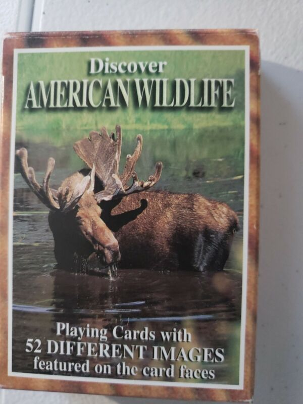 Discover American Wildlife Set of 52 Playing Cards Moose Poker Sealed Bear  New
