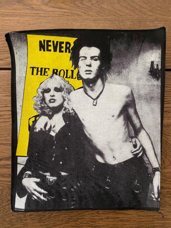 Rare Sid Vicious & Nancy Spungen Back Patch Era 1980s Sex PistolsUnused