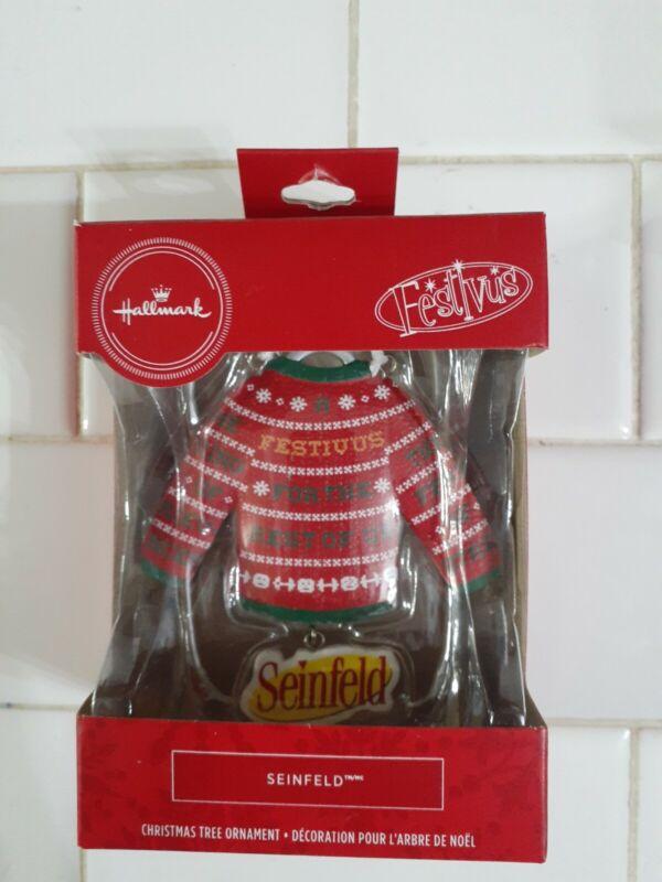 Hallmark Seinfeld Sweater Festivus For The Rest Of Us Christmas Tree Ornament