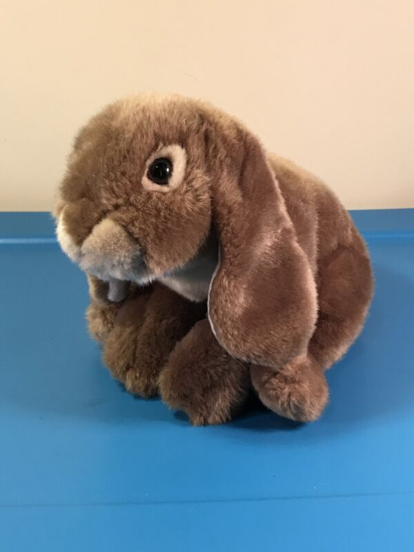 """Animal Alley Brown Tan Beige Realistic Bunny Rabbit Plush Canadian Exclusive 13"""""""