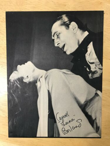 Carroll Borland Mark of the Vampire Signed Famous Monsters Filmland 1979 Lugosi