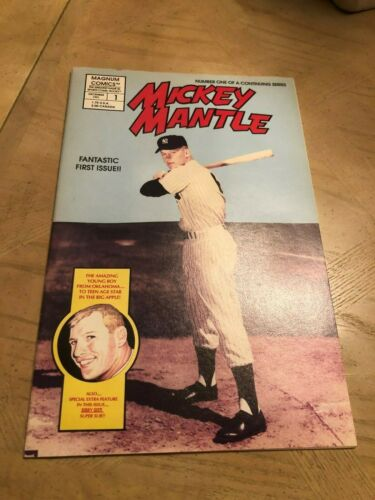 MICKEY MANTLE COMIC BOOK #1 FIRST ISSUE NEVER READ OR OPENED NEW YORK YANKEES