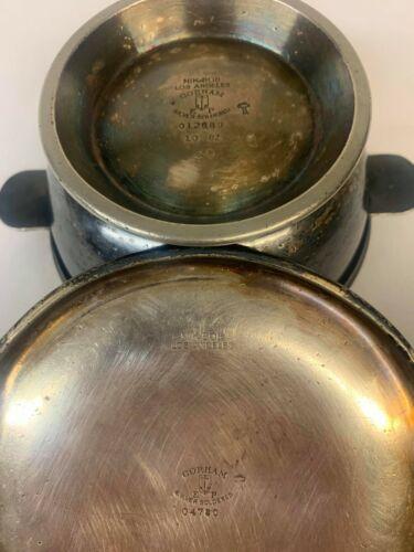 Rare Nikabob Restaurant Vintage Gorham Silver-Solderered Bowl with Lid Los Angel