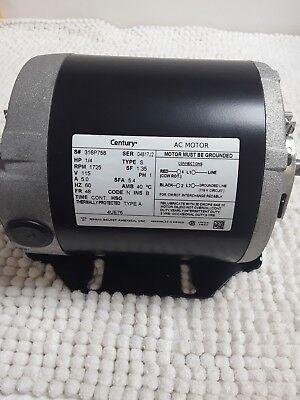 Century 4UE76 AC Belt Drive Motor Split-Phase 1/4HP 1725RPM 115V 1PH 60Hz
