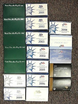 Click now to see the BUY IT NOW Price! 1994 THRU 2012 US PROOF SET RUN OF 19 CONSECUTIVE ALL IN OGP W/ COA'S