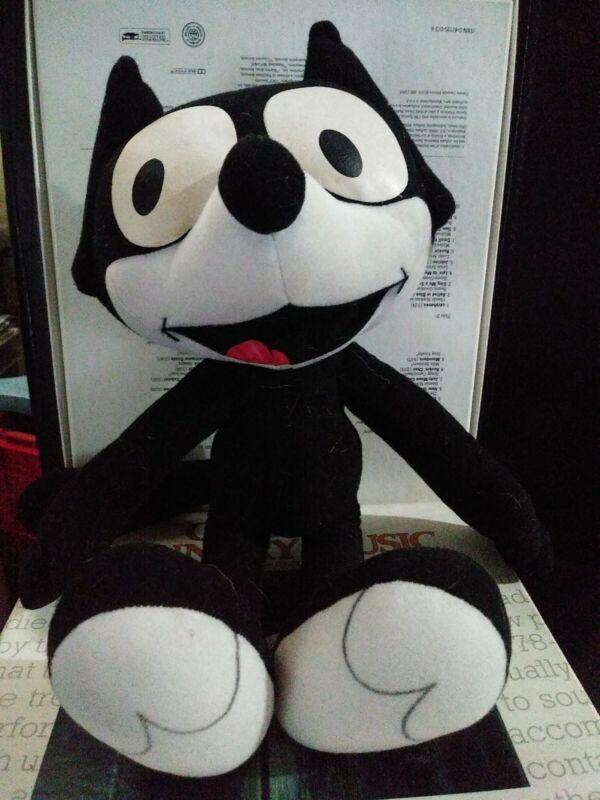 "2001 FELIX THE CAT Cartoon Character 15"" Plush Stuffed Toy"