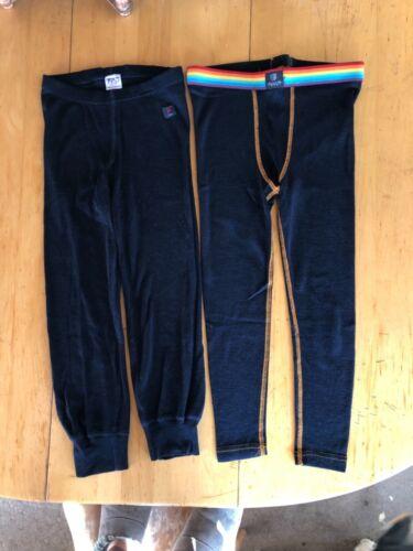 100% Merino Wool Underlayer Pants 4-6 yrs Lot of 2
