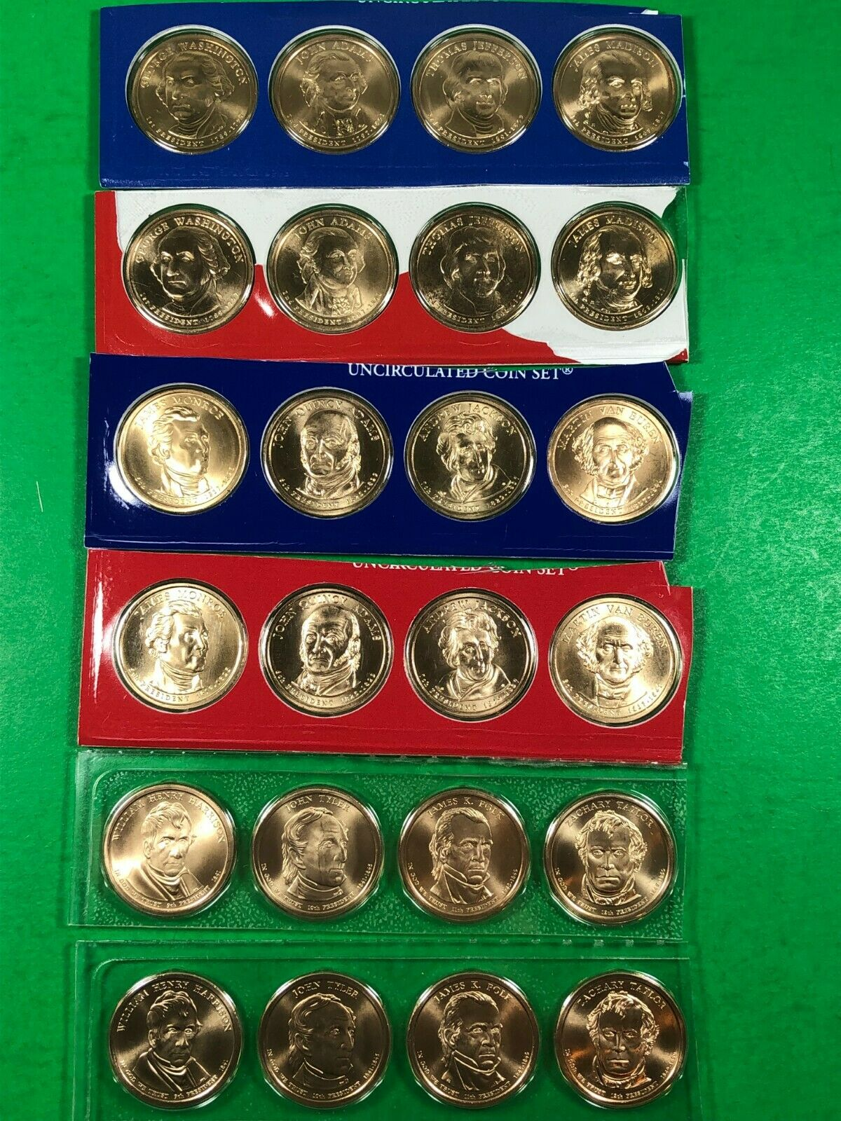 Presidential Dollars - 78 Coins 2007-2016 - Uncirculated  - $100.00