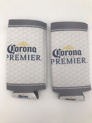 Corona Premier Coozie lot of 2 pcs Keeps Cans Cool free ship