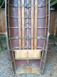 Antique snap together Wood Canoe
