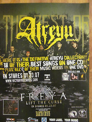 Atreyu, The Best Of, Full Page Promotional Ad