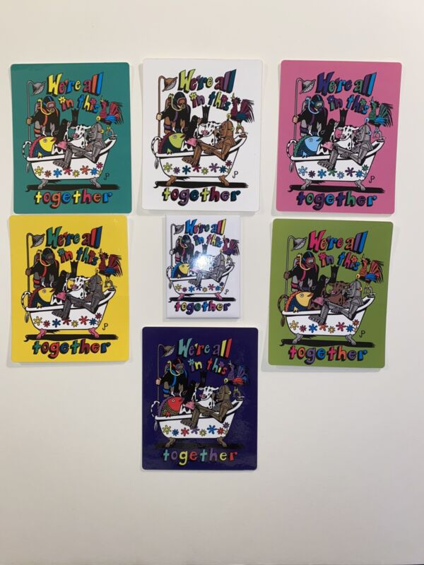 Phish We're All In This Together Set (7) Stickers/Magnet Jim Pollock Full Set!